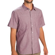 Black Diamond Equipment Chambray Modernist Shirt - Short Sleeve (For Men) in Port - Closeouts