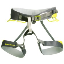 Black Diamond Equipment Chaos Climbing Harness in Ink Jet/Lime - Closeouts