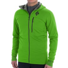 Black Diamond Equipment CoEfficient Polartec® Power Dry® Jacket - Hooded (For Men) in Vibrant Green - Closeouts