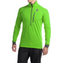 Black Diamond Equipment CoEfficient Polartec® Power Dry® Pullover - Zip Neck, Long Sleeve (For Men) in Vibrant Green - Closeouts