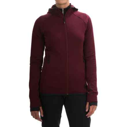 Black Diamond Equipment Compound Hooded Jacket - Polartec® Power Stretch® (For Women) in Merlot - Closeouts