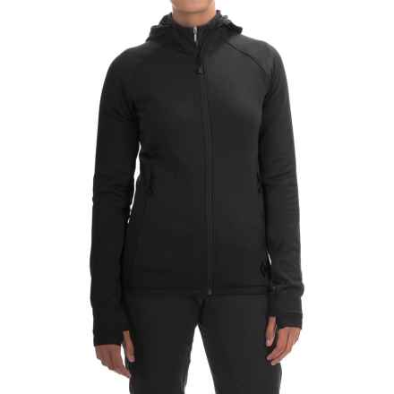 Black Diamond Equipment Compound Hooded Jacket - Polartec® Power Stretch® (For Women) in Smoke - Closeouts