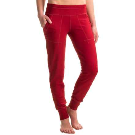 Black Diamond Equipment Cuffed Track Pants (For Women) in Maroon - Closeouts
