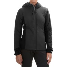 Black Diamond Equipment Deployment Hybrid Hooded Jacket - Merino Wool Blend, Insulated (For Women) in Smoke - Closeouts