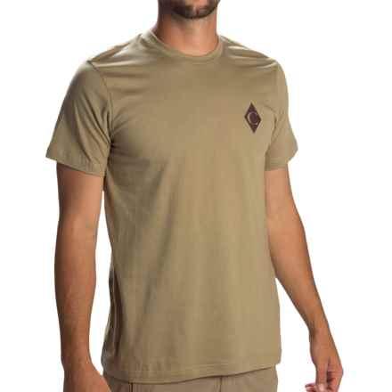 Black Diamond Equipment Diamond C T-Shirt - Organic Cotton, Short Sleeve (For Men) in Dune - Closeouts