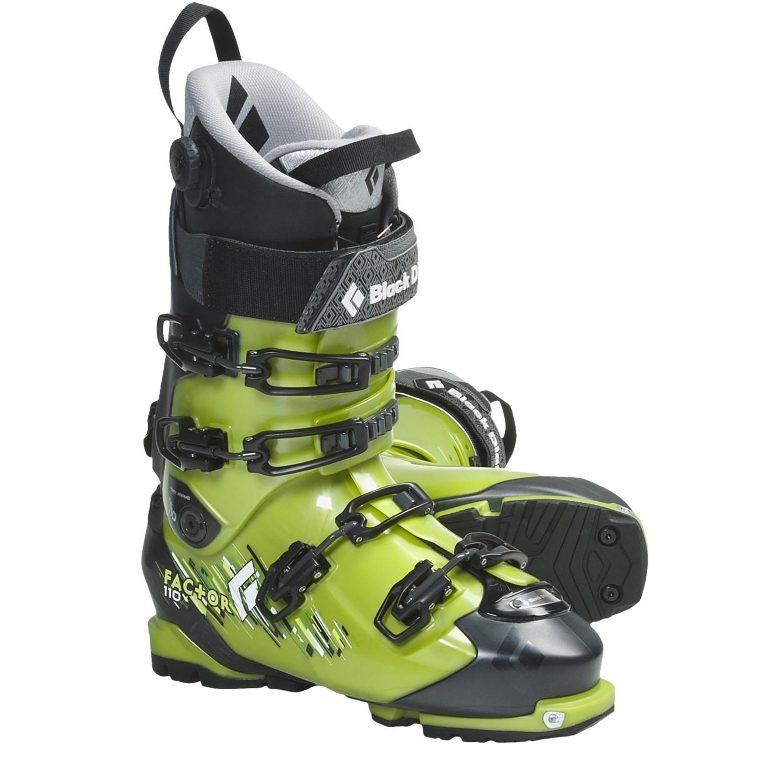 buy black equipment factor 110 at ski boots