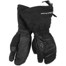Black Diamond Equipment Gore-Tex® Guide Lobster Gloves - Waterproof, Leather (For Men and Women) in Black - Closeouts