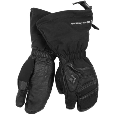 Black Diamond Equipment Gore-Tex® Guide Lobster Gloves - Waterproof, Leather (For Men and Women) in Black