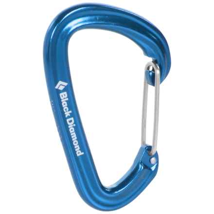 Black Diamond Equipment HotWire Carabiner - Wiregate Construction in Blue - 2nds