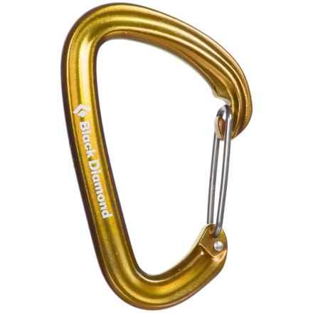 Black Diamond Equipment HotWire Carabiner - Wiregate Construction in Yellow - Closeouts
