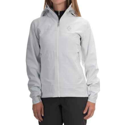 Black Diamond Equipment Induction Windstopper® Soft Shell Jacket (For Women) in Ice - Closeouts
