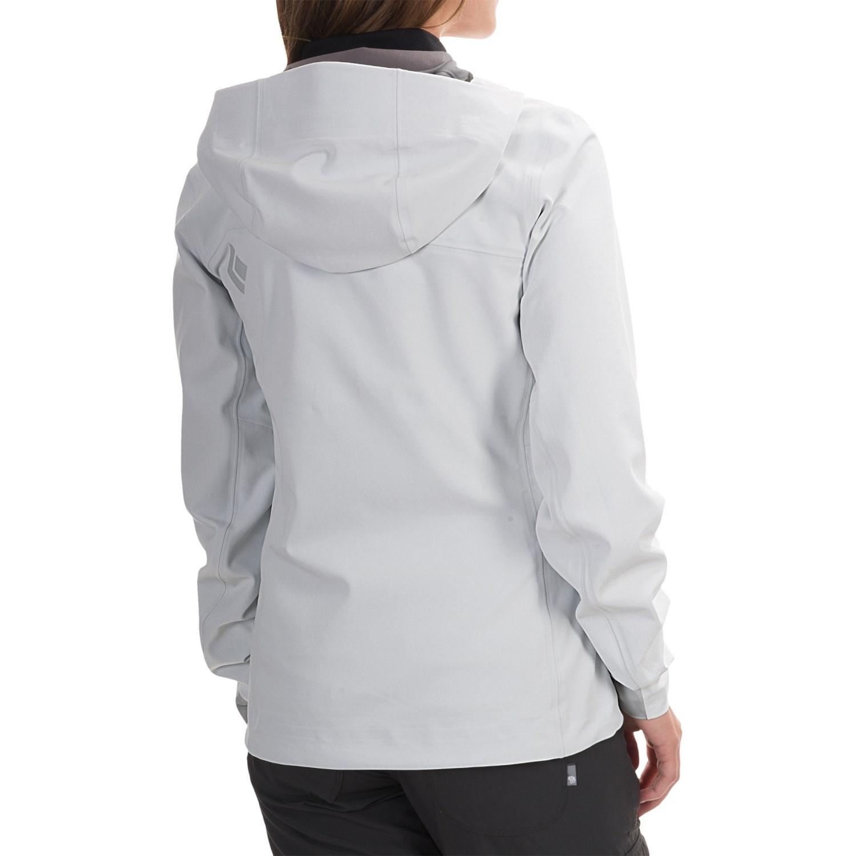 Womens black soft shell jacket