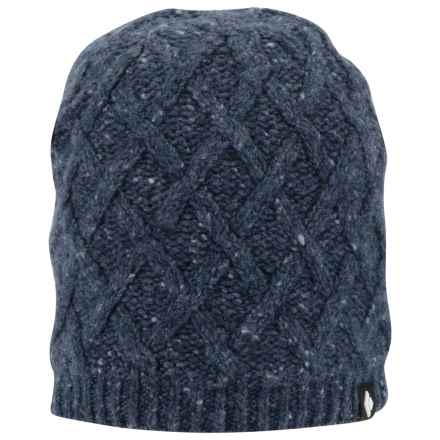 Black Diamond Equipment Karina Beanie - Merino Wool-Alpaca, Fleece Lined (For Men and Women) in Captain - Closeouts