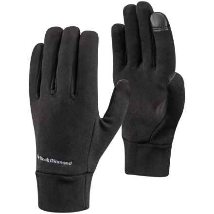 Black Diamond Equipment Lightweight Liner Gloves - Touchscreen Compatible in Black - Closeouts