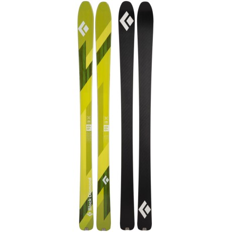 Black Diamond Equipment Link 90 Alpine Skis (For Men and Women) in See Photo
