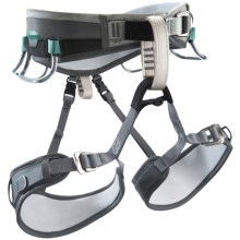Black Diamond Equipment Lotus Climbing Harness (For Women) in Charcoal/Turquoise - Closeouts