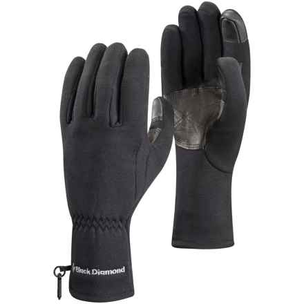 Black Diamond Equipment Midweight Digital Liner Gloves - Touchscreen Compatible in Black - Closeouts
