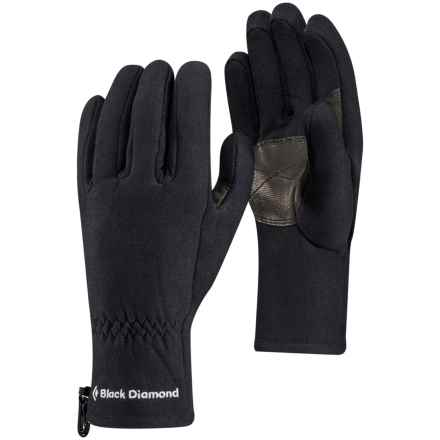 Black Diamond Equipment Midweight Liner Gloves in Black - Closeouts