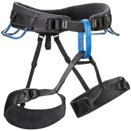 Black Diamond Equipment Momentum Dual Speed Climbing Harness in Smoke/Powell Blue - Closeouts