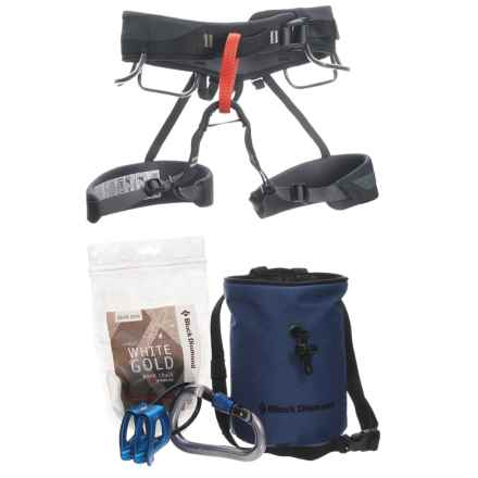 Black Diamond Equipment Momentum Harness Package in Graphite/Navy - Closeouts