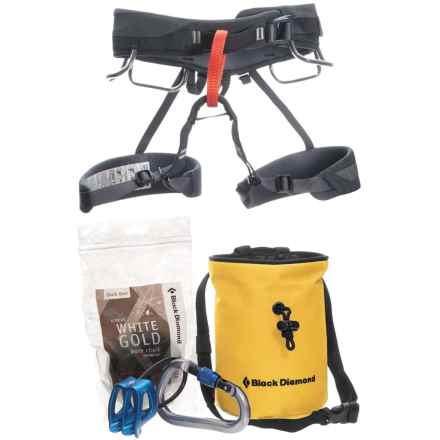 Black Diamond Equipment Momentum Harness Package in Graphite/Yellow - Closeouts