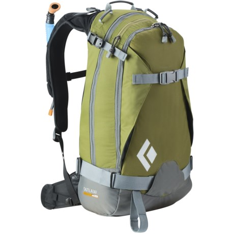Black Diamond Equipment Outlaw AvaLung Snowsport Backpack in Green Olive
