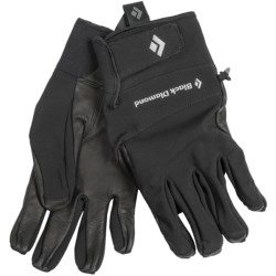Black Diamond Equipment Pilot Soft Shell Gloves (For Men) in Black