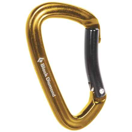 Black Diamond Equipment Positron Carabiner - Bent Gate in Yellow - 2nds