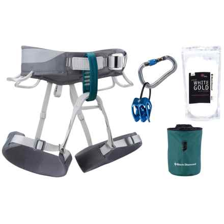 Black Diamond Equipment Primrose Climbing Harness Package (For Women) in Smoke/Teal - Closeouts