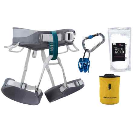 Black Diamond Equipment Primrose Climbing Harness Package (For Women) in Smoke/Yellow - Closeouts