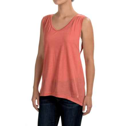 Black Diamond Equipment Rectory Tank Top - Merino Wool-Modal (For Women) in Coral - Closeouts