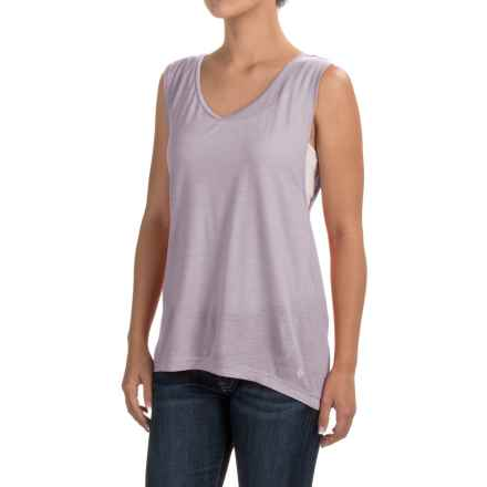 Black Diamond Equipment Rectory Tank Top - Merino Wool-Modal (For Women) in Pale Lavender - Closeouts