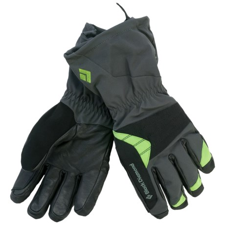 Black Diamond Equipment Renegade Gore-Tex® XCR® Gloves - Waterproof, Insulated (For Men) in Lime Green