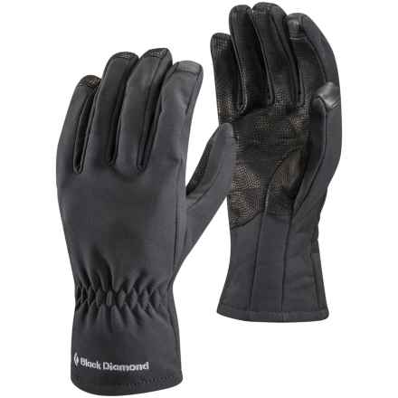 Black Diamond Equipment Soft Shell Digital Gloves - Touchscreen Compatible (For Men and Women) in Black - Closeouts