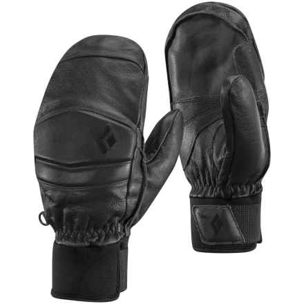 Black Diamond Equipment Spark Mitts PrimaLoft® Mittens - Waterproof, Leather in Gunmetal - Closeouts