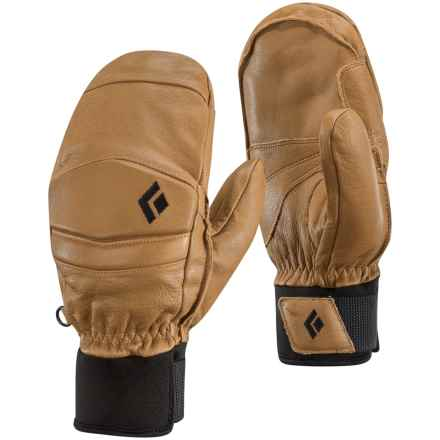 Black Diamond Equipment Spark Mitts PrimaLoft® Mittens - Waterproof, Leather in Natural - Closeouts