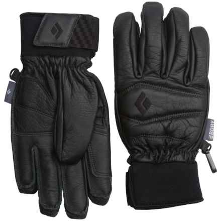 Black Diamond Equipment Spark PrimaLoft® Leather Gloves - Waterproof, Insulated (For Women) in Black - Closeouts