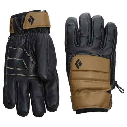 Black Diamond Equipment Spark Pro Gore-Tex® PrimaLoft® Gloves - Waterproof, Insulated, Leather (For Men) in Dark Curry - Closeouts