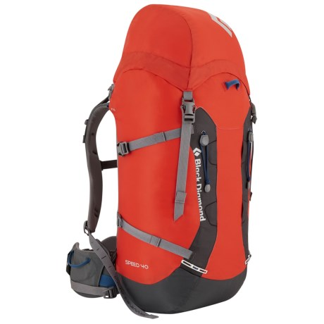 Black Diamond Equipment Speed 40 Backpack - Internal Frame in Vapor Grey