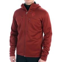 Black Diamond Equipment Tangent Hooded Jacket - Polartec® Wind Pro® Fleece (For Men) in Deep Torch - Closeouts