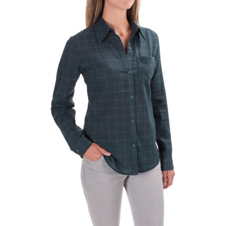 Black Diamond Equipment Technician Shirt - Long Sleeve (For Women) in Dark Adriatic/Caspian Plaid