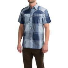 Black Diamond Equipment Technician Shirt - Short Sleeve (For Men) in Indigo-Aluminum Plaid - Closeouts