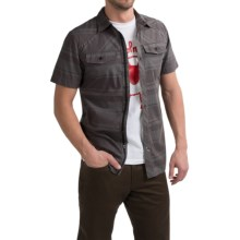 Black Diamond Equipment Technician Shirt - Short Sleeve (For Men) in Nickel-Blck Stripe - Closeouts