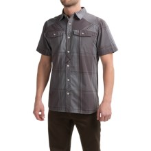 Black Diamond Equipment Technician Shirt - Short Sleeve (For Men) in Slate-Port Plaid - Closeouts
