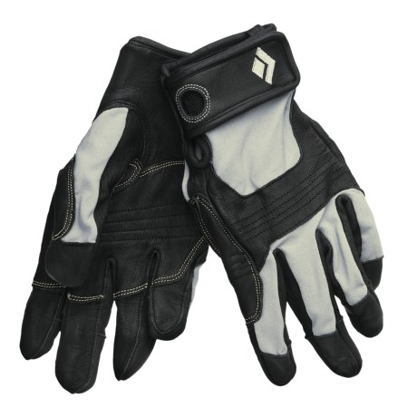 Black Diamond Equipment Transition Climbing Gloves (For Men) in Black