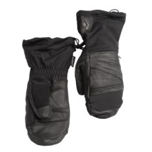 Black Diamond Equipment Virago Gore-Tex® Mittens - Waterproof, Insulated, Leather (For Men) in Black - Closeouts