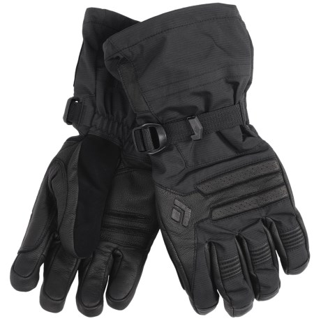 Black Diamond Equipment Vision Gloves - Removable Fleece Liner (For Men) in Black