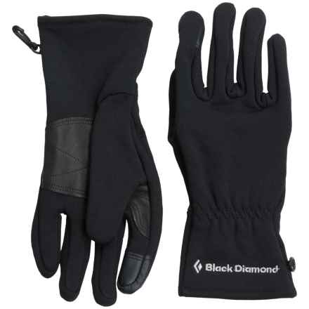 Black Diamond Equipment Welterweight Gloves Touchscreen Compatible (For Men and Women) in Black - Closeouts