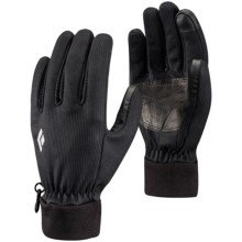 Black Diamond Equipment Windstopper® Digital Liner Gloves - Touchscreen Compatible in Black - Closeouts