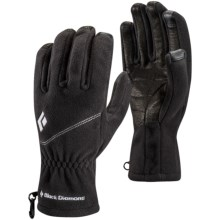 Black Diamond Equipment Windweight Polartec® Windbloc® Fleece Gloves - Touchscreen Compatible (For Men) in Black - Closeouts